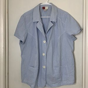 Short Blue and White Blazer